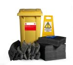 Product image for 210L Spill Kit in 2 Wheeled Bin