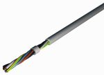 Product image for 2 Core 1 mm² Flexible Cable, Grey PVC Sheath 50m, 8 A 300/500 V, EN 50525-2-11 0