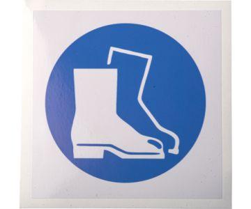 Gebotsschild Fußschutz