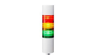 Signalsäule mit roter, gelber und grüner Lampe