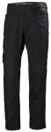Product image for Helly Hansen Oxford Black Cotton, Elastane, Polyester Trousers 45in, L Waist