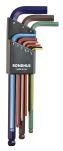 Product image for Bondhus 9 pieces Hex Key Set,  L Shape 1.5mm Ball End