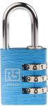 Product image for Blue Combination Safety Padlock 30 mm