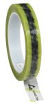 Product image for CLEAR ESD,YELLOW STRIPE TAPE, 24MMX65.8M