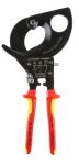 Product image for Knipex VDE/1000V Insulated 280 mm Ratchet Cable Cutter