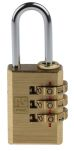 Product image for Brass Combination Padlock 20 mm