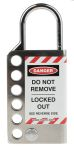 Product image for 25mm Stainless Steel Lockout Hasp