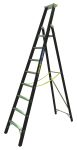 Product image for Zarges Aluminium 8 steps Step Ladder, 2.12m platform height
