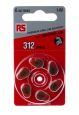 Product image for RS Zinc Air PR41 Battery 6 Pack