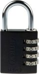 Product image for ABUS 145/40 Black All Weather Aluminium Combination Padlock 41.5mm