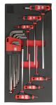 Product image for 15pc T-Handle & Ballpoint L Hex Key Set