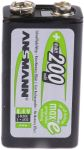 Product image for MAXE NIMH RECHARGEABLE CELL 9V 200MAH