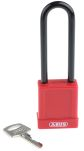 Product image for Red Non Conductive Safety Padlock,Long