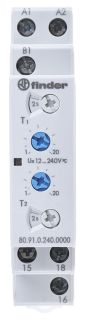 Product image for 2 function timer,12-240Vac/dc
