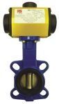 Product image for RS PRO Pneumatic Actuated Butterfly Valve Nitrile Liner, 3in Pipe Size