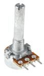 Product image for Alps Alpine Rotary Carbon Film Potentiometer with an 6 mm Dia. Shaft - 10kΩ, ±10%, 0.1W Power Rating, Linear, Panel