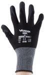 Product image for Black nitrile coated grip glove 8