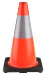 Product image for Rubber Base Traffic Cone, 45cm