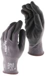 Product image for Ansell Hyflex, Black Nitrile Coated Work Gloves, Size 9