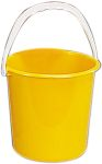 Product image for Yellow plastic bucket, 10 litre
