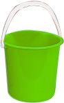 Product image for Green plastic bucket, 10 litre