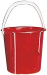 Product image for Red plastic bucket, 10 litre