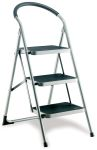 Product image for Step Ladders, Foldable, 3 Tread