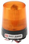 Product image for LED Beacon, Amber, Tall Prof, 10-100Vdc