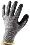 Product image for Black/grey cut 5 latex coated glove 10