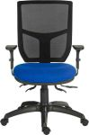 Product image for ERGO COMFORT MESH BLUE WITH ARMS