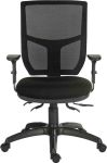 Product image for RS PRO Fabric Typist Chair 150kg Weight Capacity Black