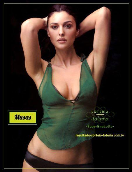 Loteria Italiana SuperEnaLotto: Monica Bellucci | Musas das Loterias 1