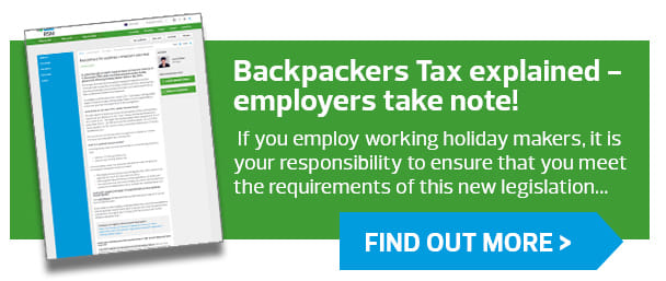 Backpacker tax explained - employers take note! For more information about the backpackers tax, please read on here...