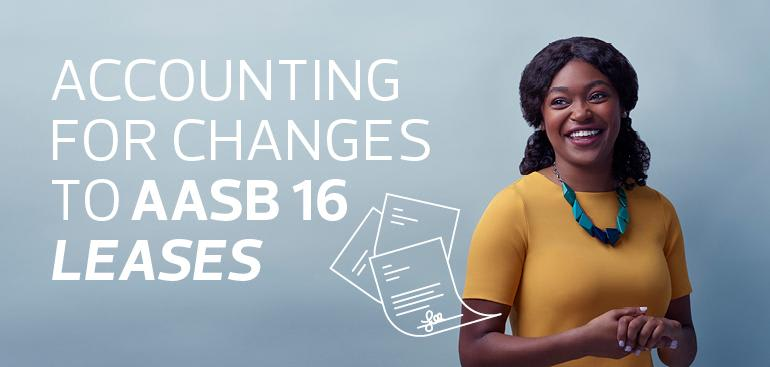 Accounting for changes to AASB 16 Leases