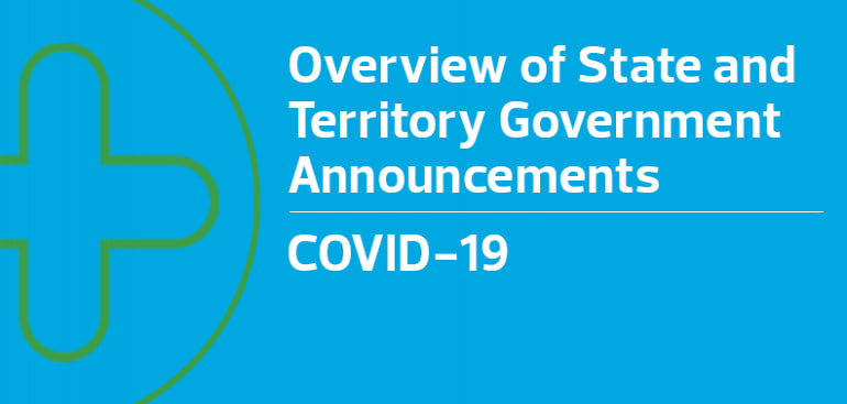 Overview of State and Territory Government Announcements
