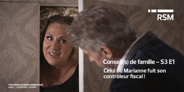 Celui où Marianne fuit son contrôleur fiscal !