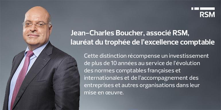 Jean-Charles Boucher : lauréat du trophée de l'excellence comptable