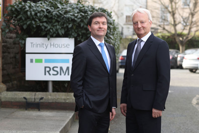 Tim Quigley, RSM's corporate finance partner, and John Glennon, the firm's managing partner. Photograph: Jason Clarke