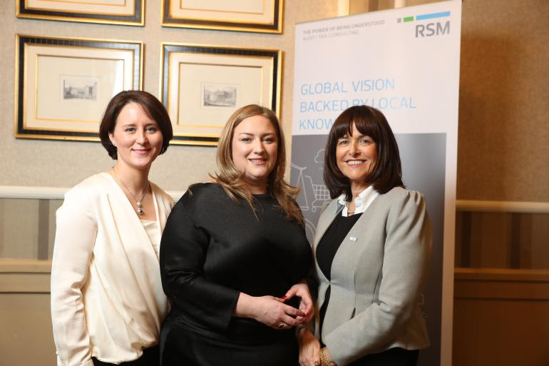 Emma Cadden, Transaction Advisory Director; Dearbhail McDonald, Group Business Editor with Independent News and Media; Catherine Corcoran, Head of Management Consulting