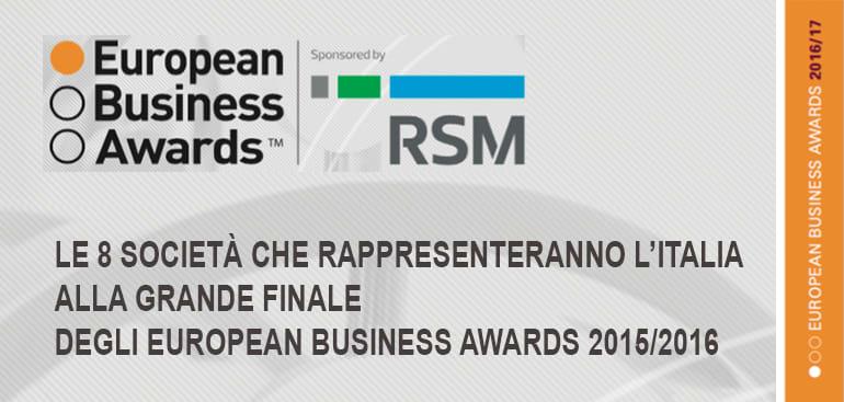 RSM Palea Lauri Gerla augura buona fortuna alle 8 società che rappresenteranno l'Italia alla  grande finale degli European Business Awards 2015/2016