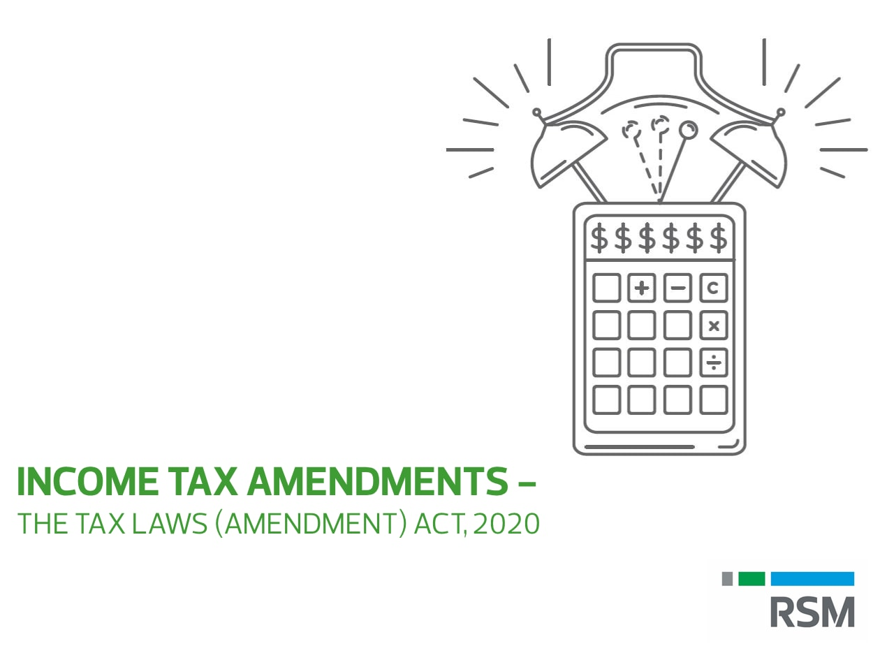Income Tax Amendments The Tax Laws Amendment Act 2020