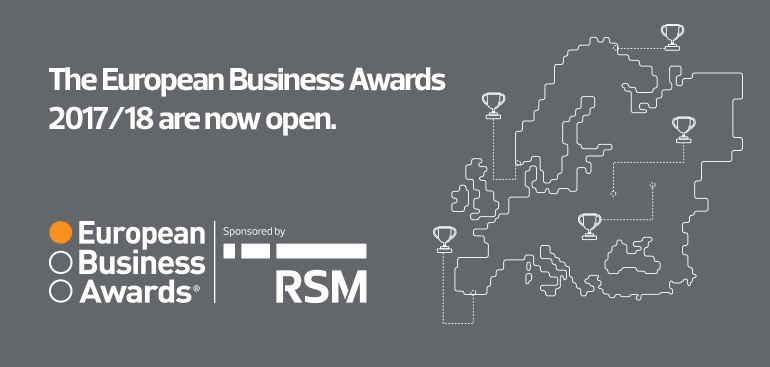 The European Business Awards 2017-18 are now open
