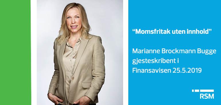 """""""Momsfritak uten innhold."""" Finansavisen 25.5.2019"""