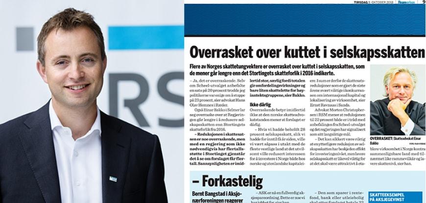 Morten Hereng Christophersen kommenterer i Finansavisen