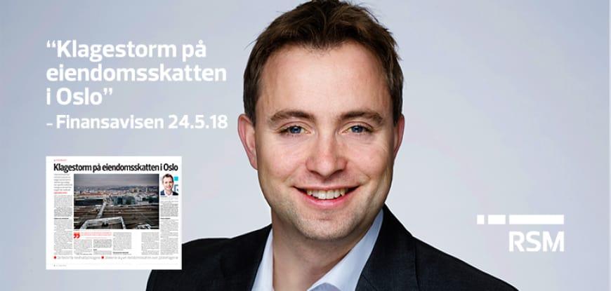 Klagestorm på eiendomsskatten i Oslo, Finansavisen 24.5.18