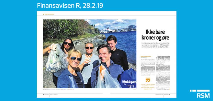 Ansatte fra RSM-kontoret i Oslo stod bak flere søppelplukkingsstunt i og rundt Oslofjorden i 2018