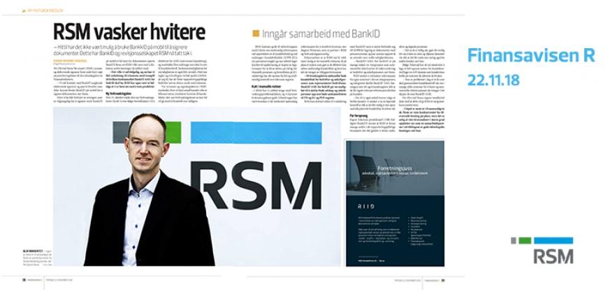 """""""RSM vasker hvitere"""", Finansavisen R 22.11.18"""