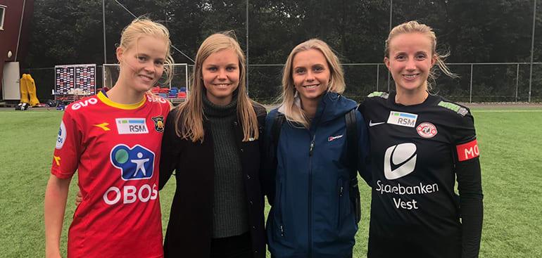 Katrine Winnem Jørgensen (Røa), Julie Borge (RSM), Anneline Westgård Solberg (RSM) og Helen Gloppen (Arna-Bjørnar)