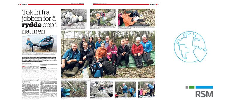 """""""Tok fri fra jobben for å rydde opp i naturen"""" - Sandnesposten skriver om RSM Forus"""