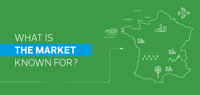What is the market in France known for?
